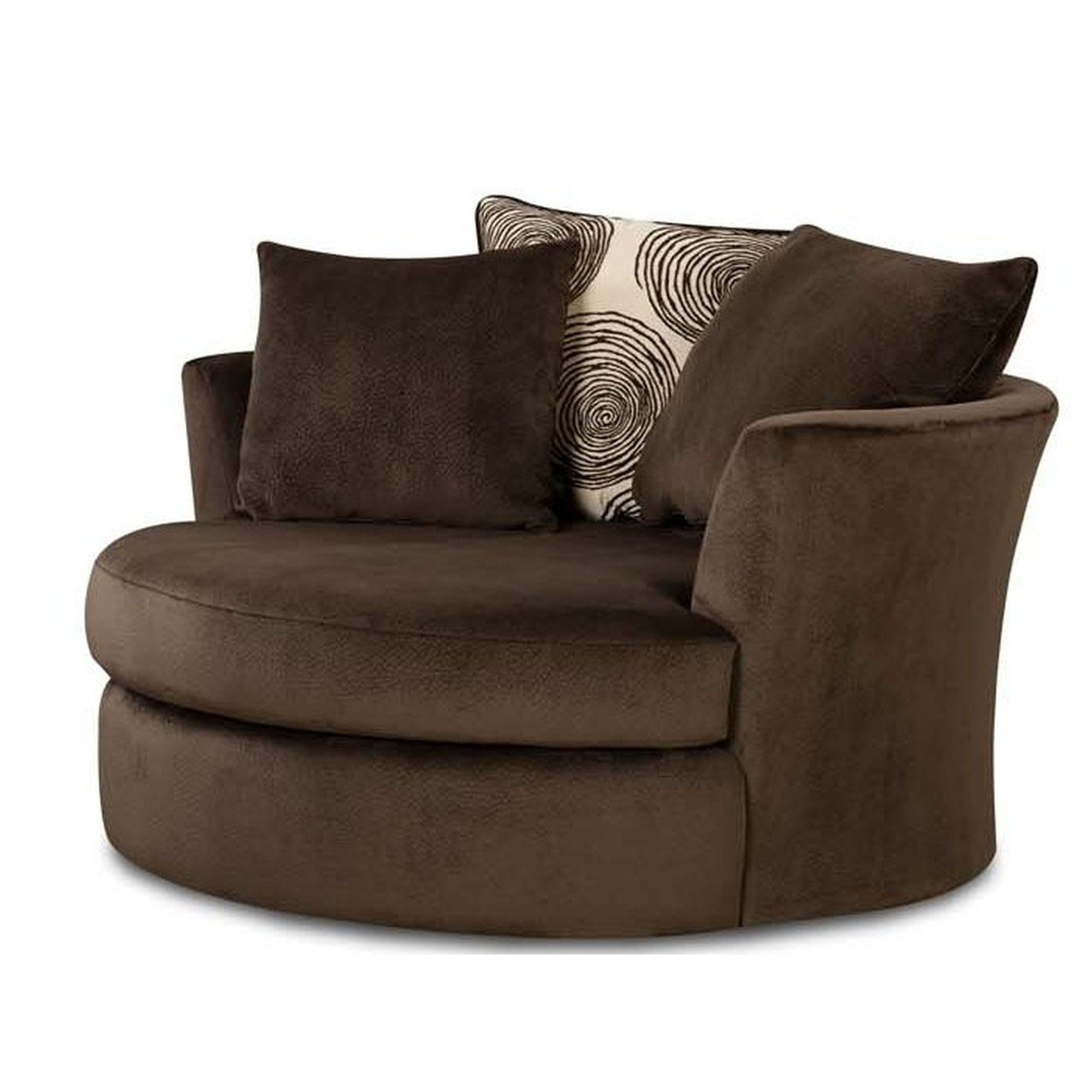 Round Swivel Chairs For Living Room With Round Sofa Chair (Image 12 of 15)