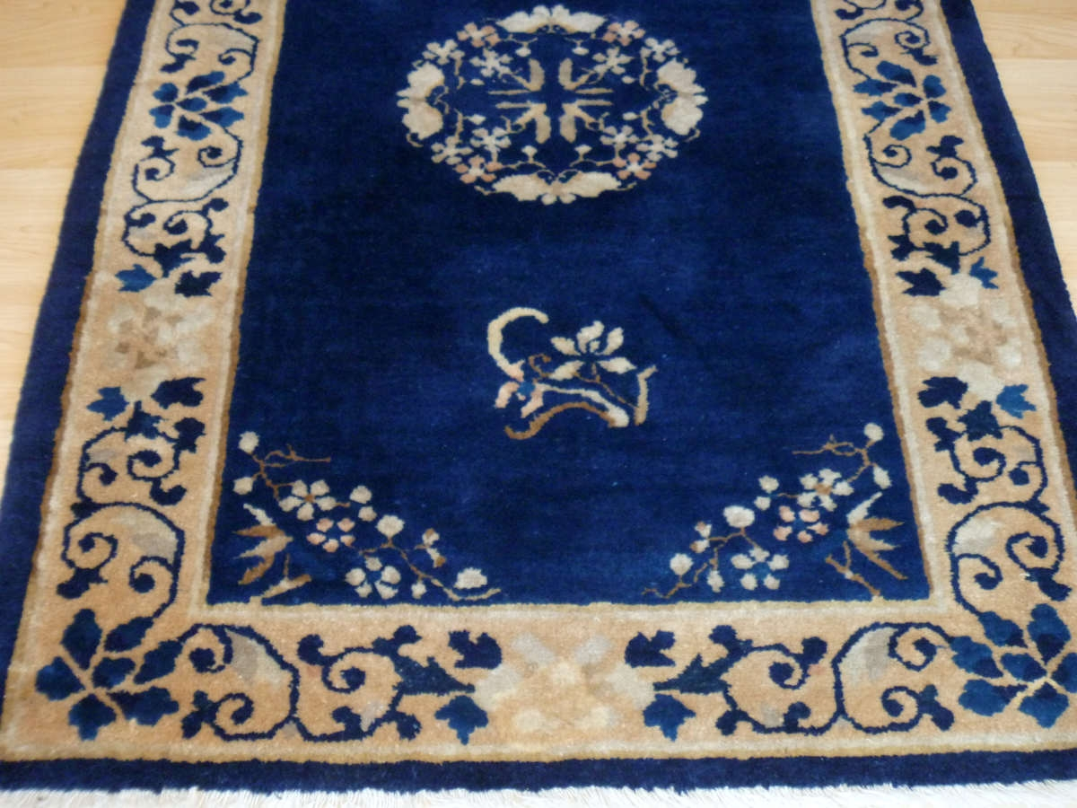 Royal Blue Chinese Rug From Elegantorientalrugs With Regard To Small Wool Rugs (View 6 of 15)
