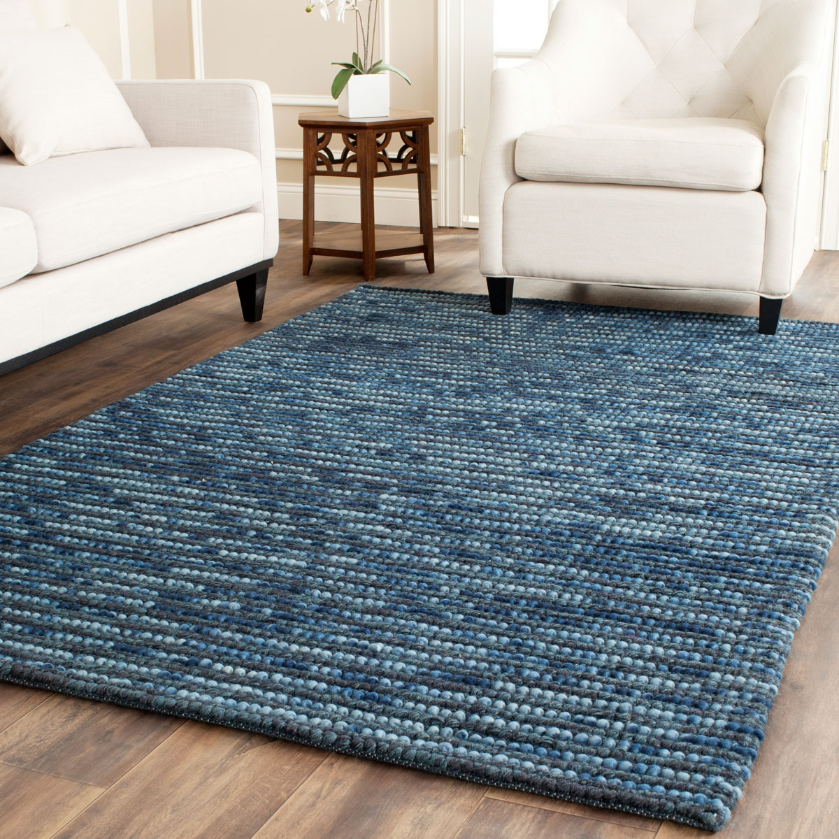 Rug Boh525g Bohemian Area Rugs Safavieh Throughout Wool Blue Rugs (Image 10 of 15)