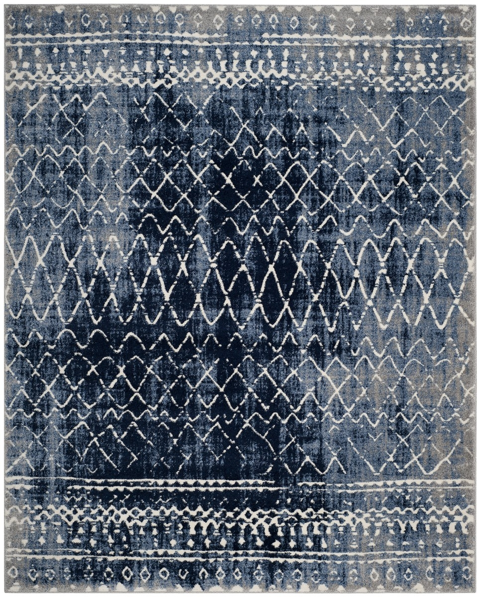 Rug Tun298l Tunisia Area Rugs Safavieh Within Light Blue And Cream Rugs (Image 11 of 15)