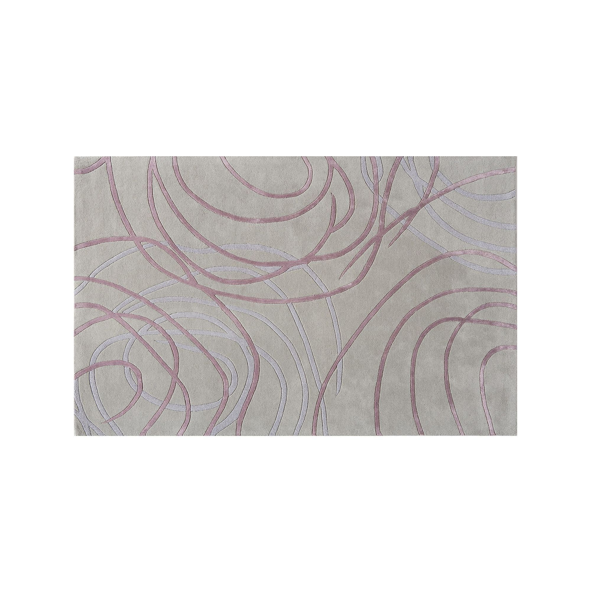 Rugs America Millenium Circular Abstract Wool Rug Grey Wool Rug Pertaining To Circular Green Rugs (Image 14 of 15)