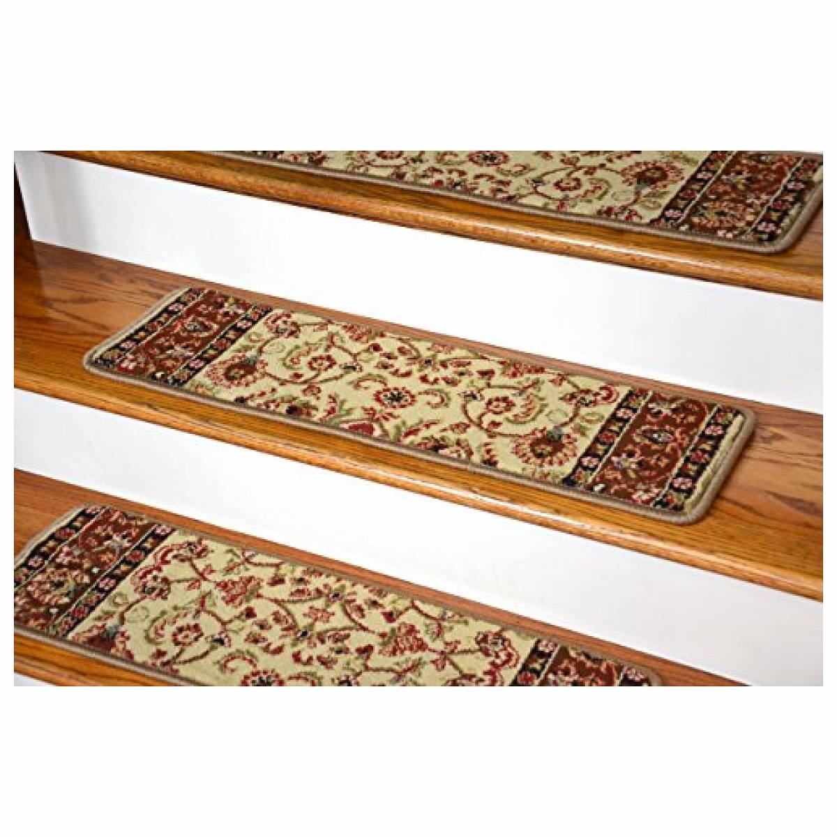 Rugs Carpet Elegant Carpet Stair Treads With Classic Pattern In Rugs For Stair Steps (View 7 of 15)
