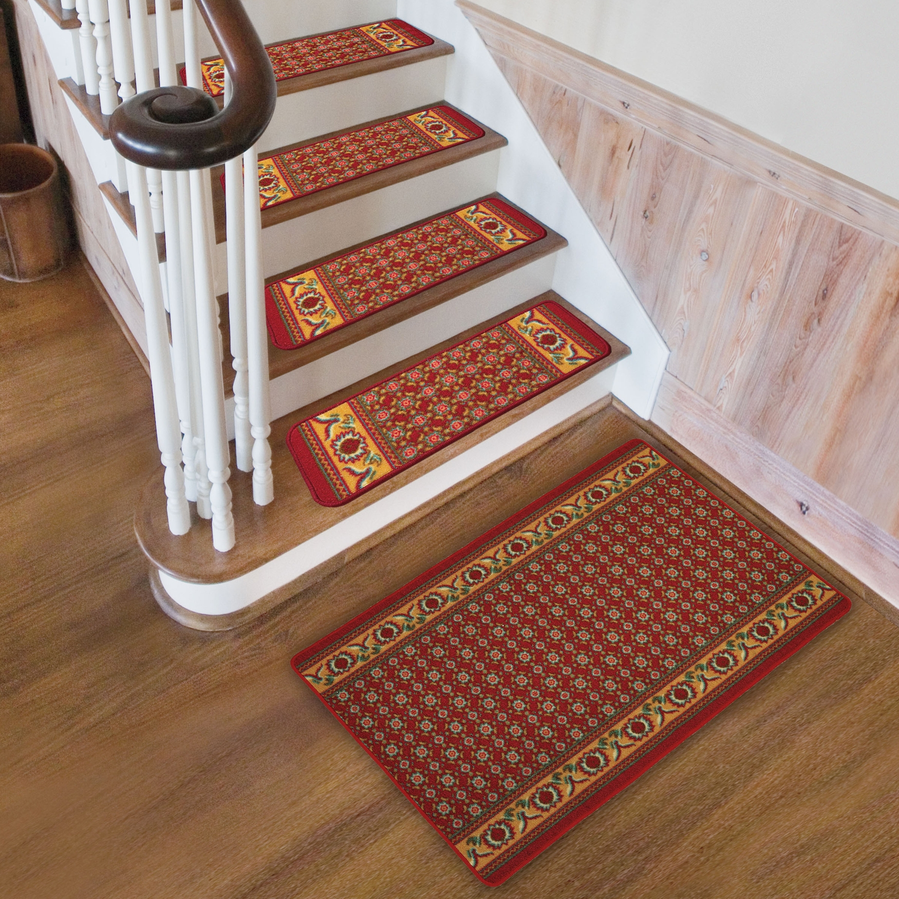 Rugs Carpet Elegant Carpet Stair Treads With Classic Pattern Regarding Stair Treads On Carpet (Image 11 of 15)