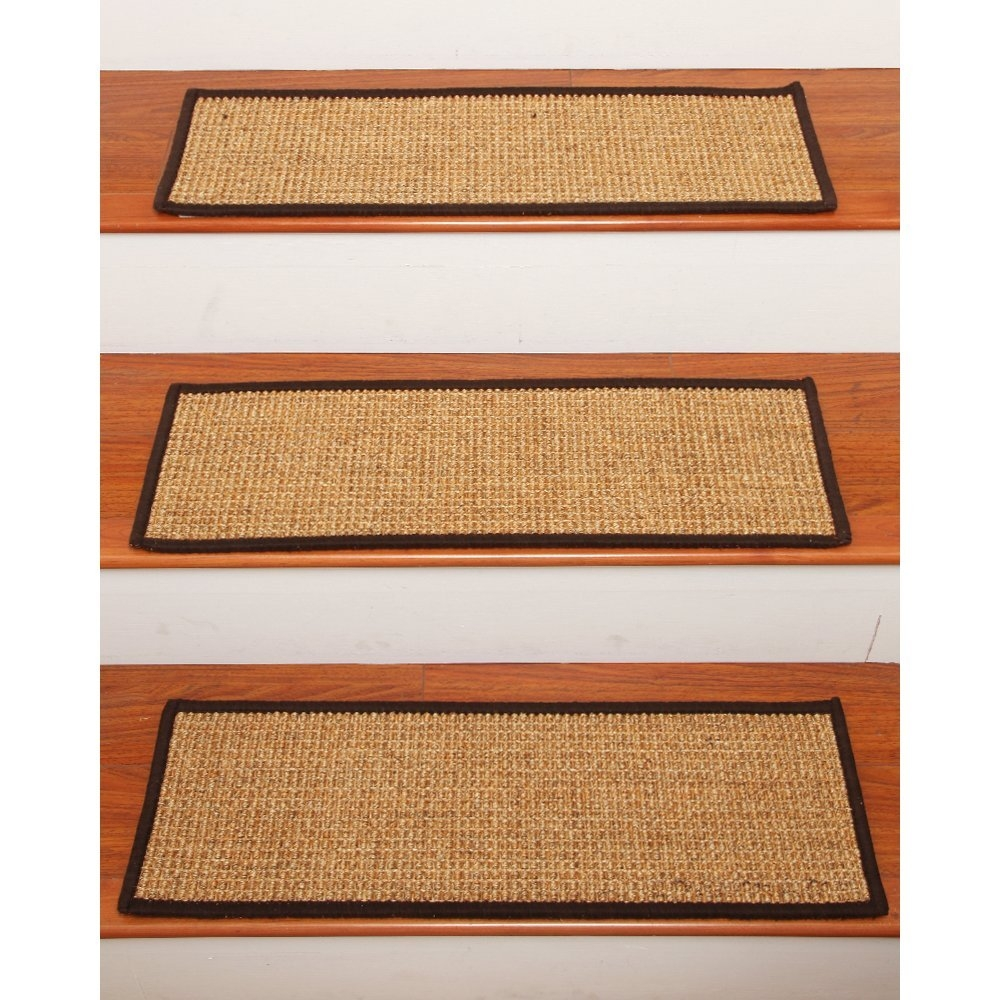 Rugs Stair Tread Rugs Brown Tan Stair Tread Rugs Natural Area Rugs Regarding Braided Rug Stair Treads (Image 13 of 15)