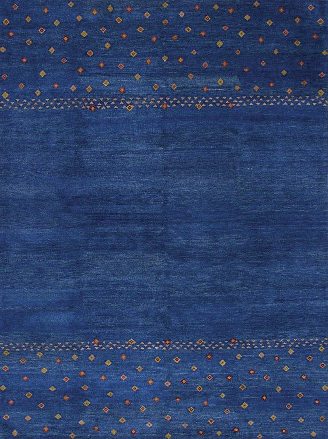 Rugsville Gabbeh Tribal Blue Wool Rug 13203 Rugsville With Regard To Wool Blue Rugs (Image 12 of 15)