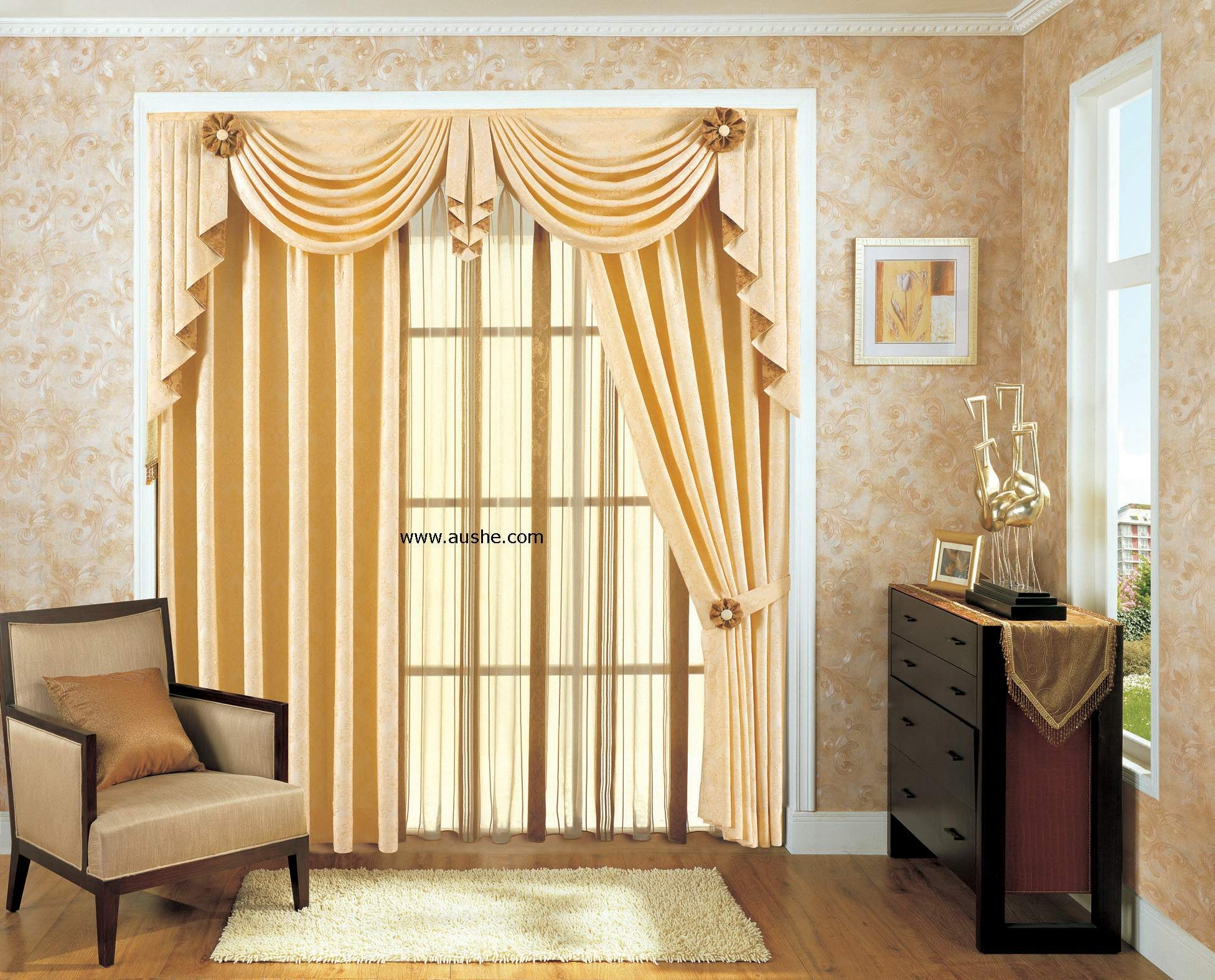 Rustic Curtain Ideas Country Curtains Cottonno Valance Cmt Inside Valance Curtain Ideas (Image 18 of 25)