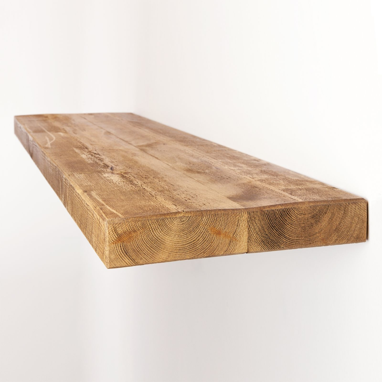 Rustic Floating Shelf 12×2 Solid Pine Funky Chunky Furniture In Floating Shelf 40cm (Image 11 of 15)