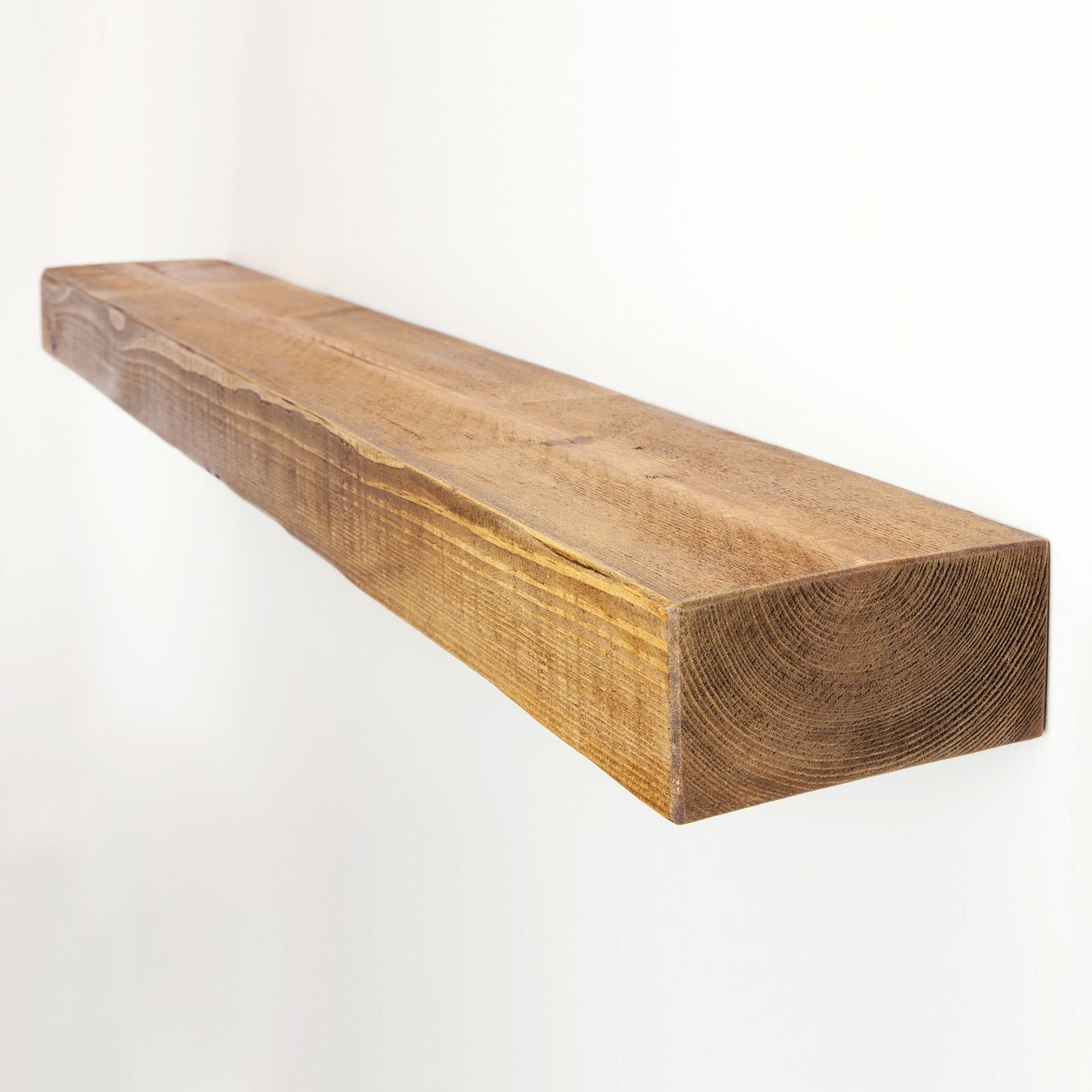 Rustic Floating Shelf 6×3 Solid Pine Funky Chunky Furniture Pertaining To 50cm Floating Shelf (Image 12 of 15)