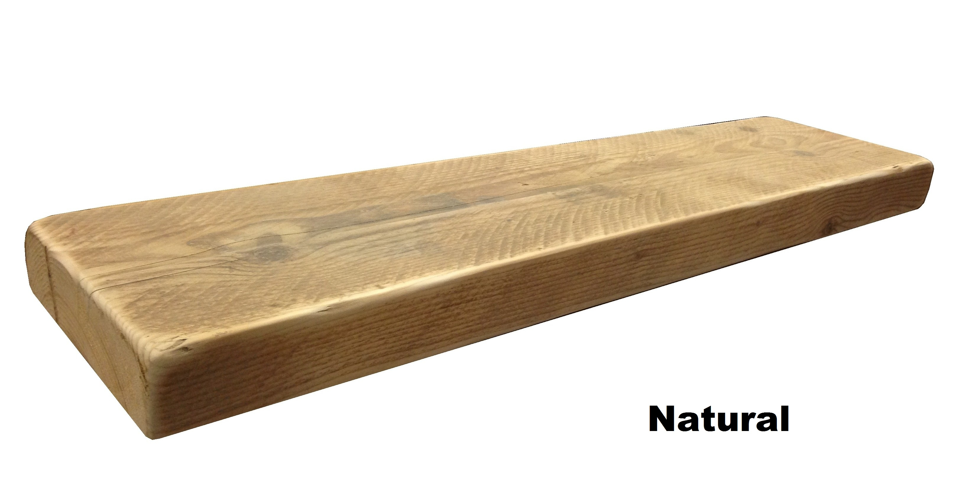 Rustic Floating Wooden Shelf Solid Reclaimed Chunky Wood Inside Floating Shelf 50cm (Image 14 of 15)