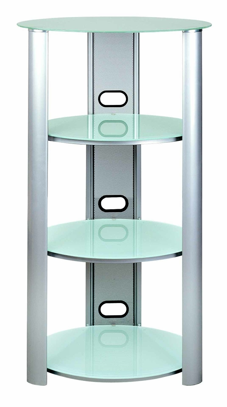 S Hold 8 Three Shelves Audio Racks Tempered Frosted Glass Eye Intended For Frosted Glass Shelves (Image 14 of 15)
