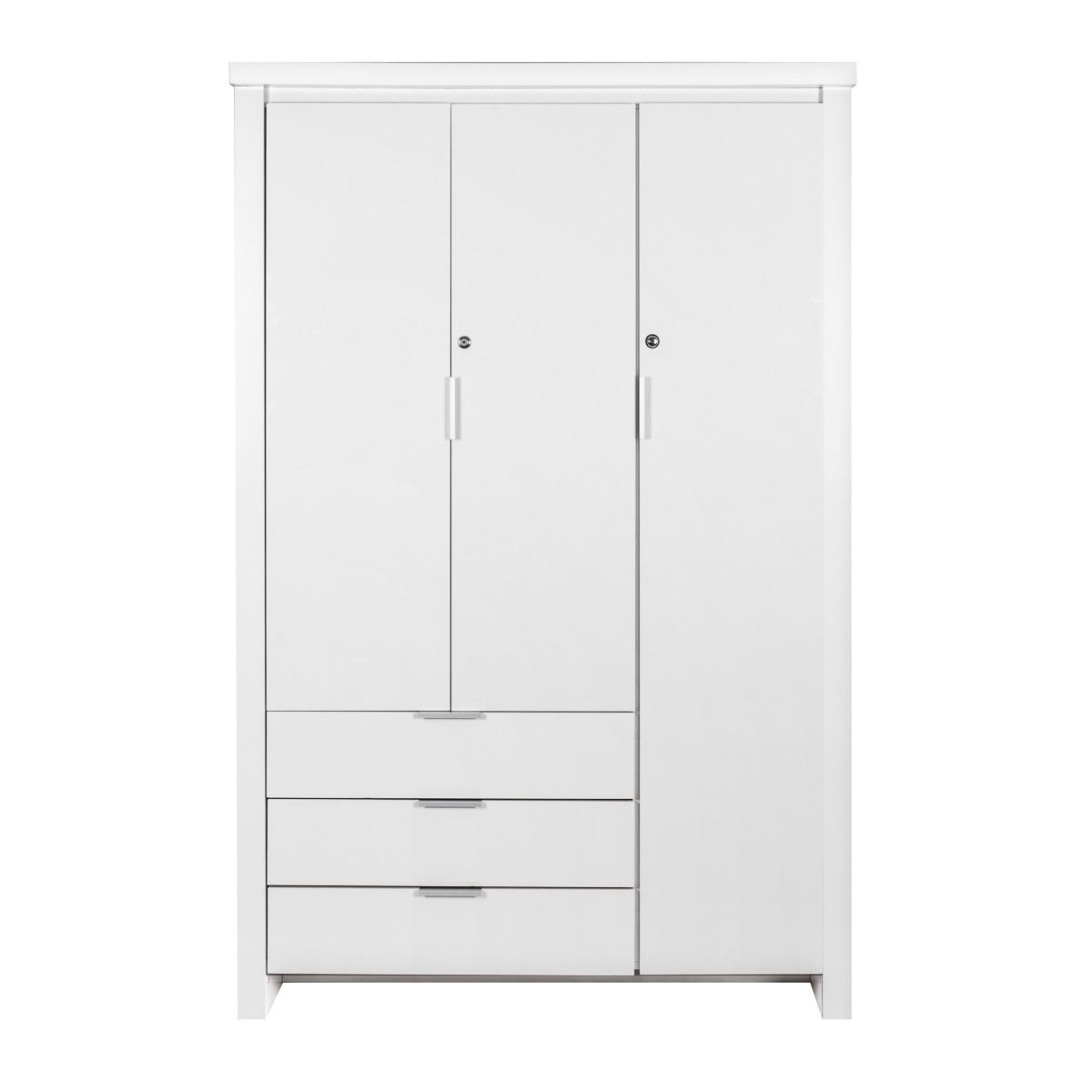 Safari 3 Door Wardrobe White Safari Collection Lifestyle Furniture Regarding 3 Door White Wardrobes (View 13 of 25)