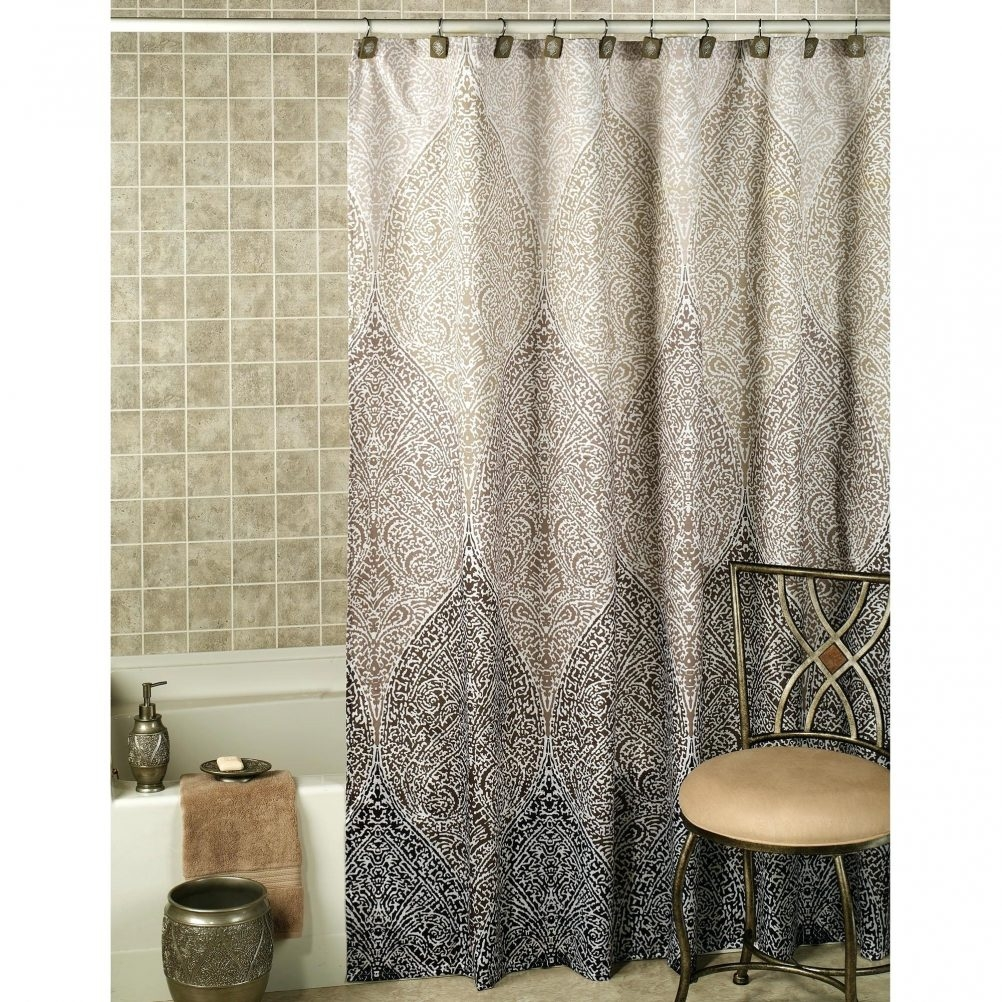 Safari Shower Curtain Carrington Ticking Shower Curtain Blue In Odd Shower Curtains (Image 24 of 25)
