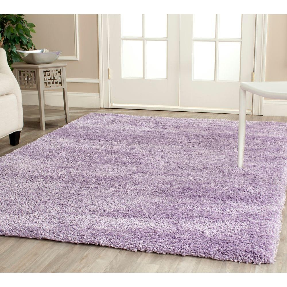 Safavieh California Shag Lilac 4 Ft X 6 Ft Area Rug Sg151 7272 4 Pertaining To Lilac Rugs (Image 13 of 15)