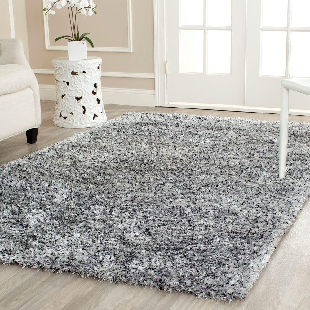 Safavieh Malibu Shag Silver 8 Ft X 10 Ft Area Rug Mls431s 8 In Silver Rugs (View 8 of 15)