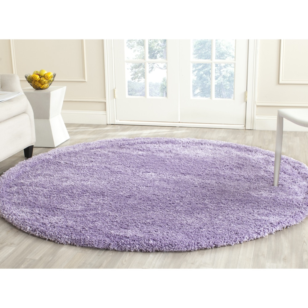 Safavieh Power Loomed Lilac Plush Shag Area Rugs Sg151 7272 Ebay Inside Lilac Rugs (Image 14 of 15)