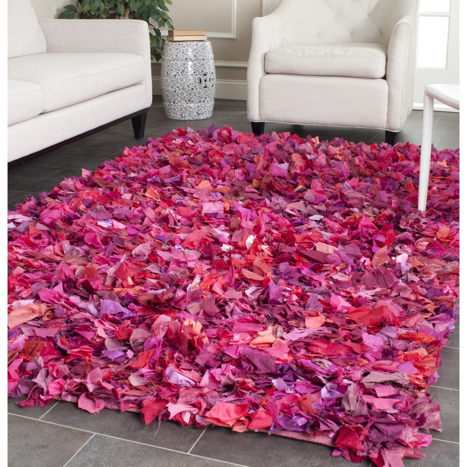 Safavieh Shag Hand Woven Chic Fuchsia Multi Area Rugs Sg951f Ebay Pertaining To Fuschia Pink Carpets (Image 14 of 15)
