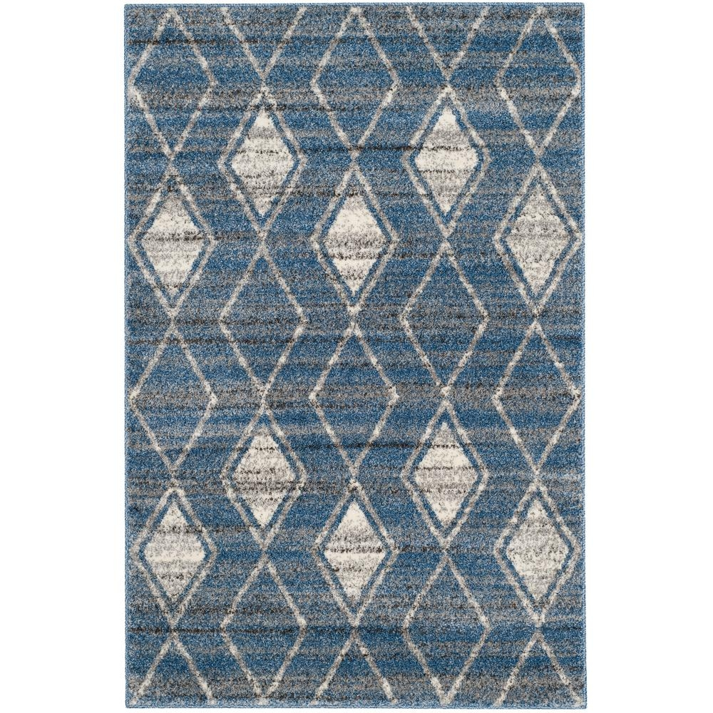 Safavieh Tunisia Light Bluecream 4 Ft X 6 Ft Area Rug Tun296l 4 Regarding Light Blue And Cream Rugs (Image 13 of 15)