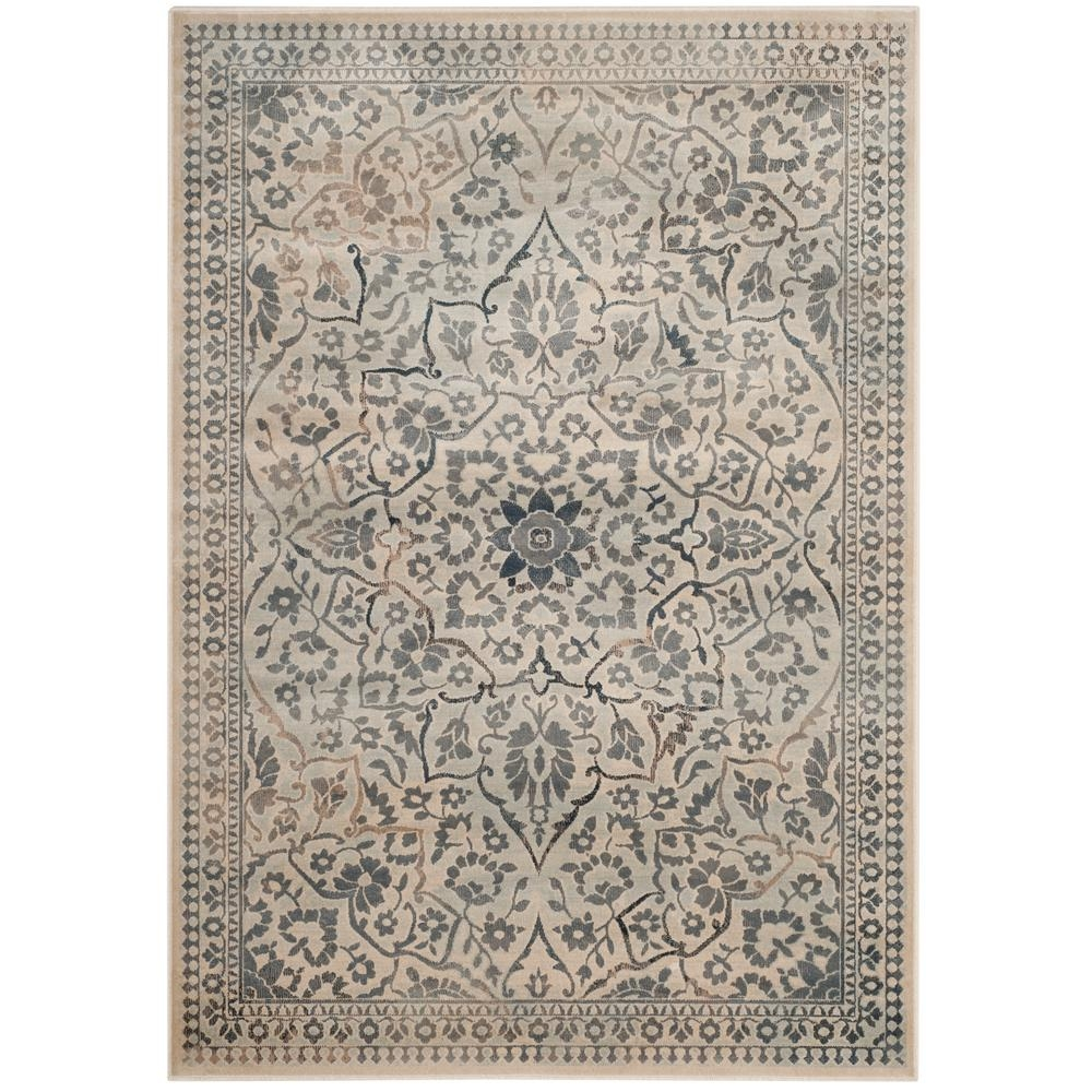 Safavieh Vintage Creamlight Blue 4 Ft X 5 Ft 7 In Area Rug Within Light Blue And Cream Rugs (Image 14 of 15)