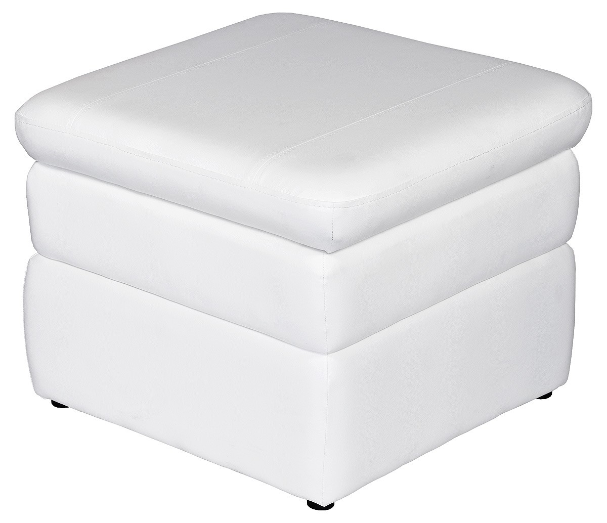 Salem Storage Pouffe White Be Fabulous Pertaining To Footstools And Pouffes With Storage (Image 9 of 15)