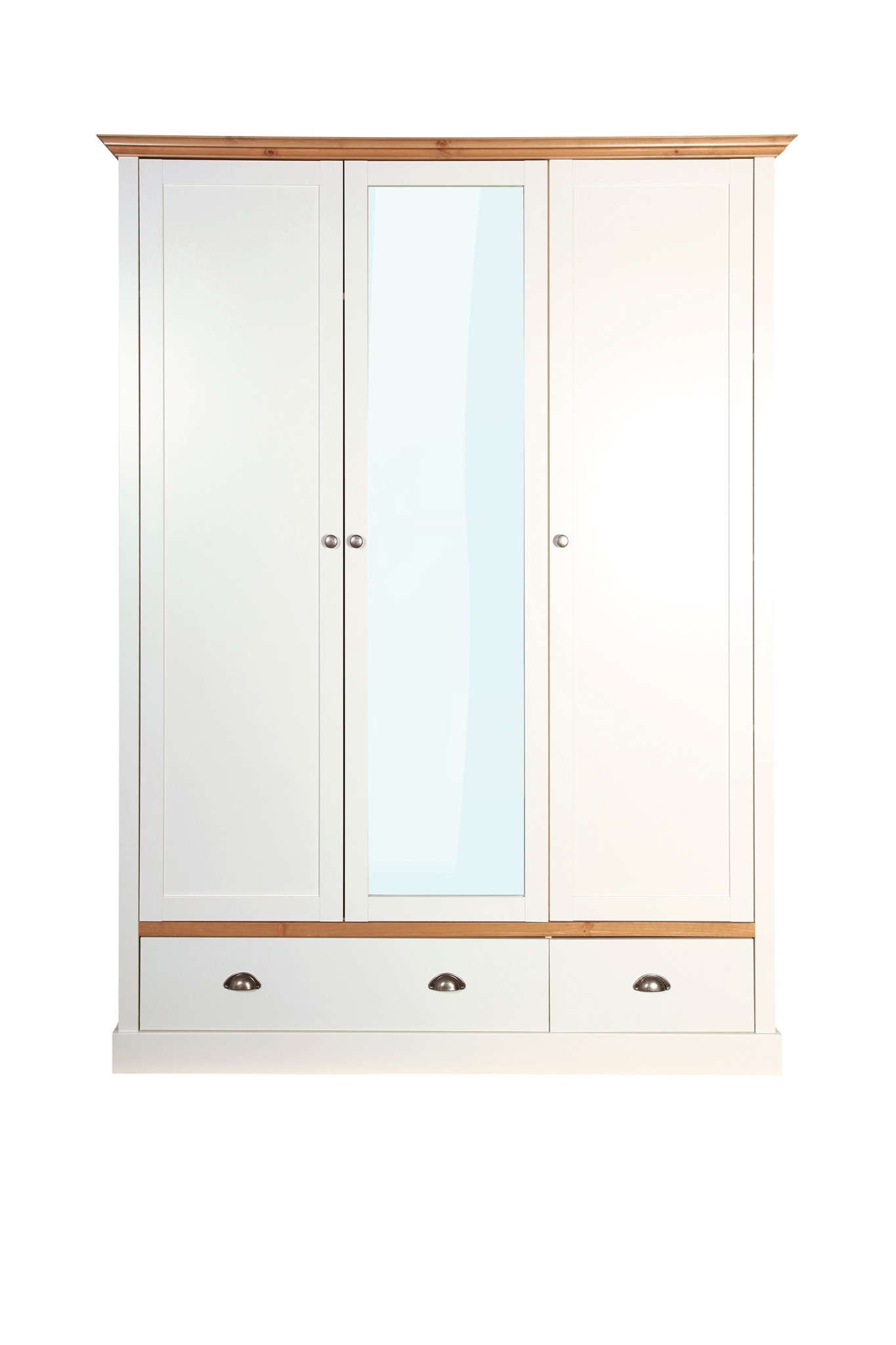 Sandringham 3 Door 2 Drawer Wardrobe White From The Original In 3 Door White Wardrobes (Image 18 of 25)