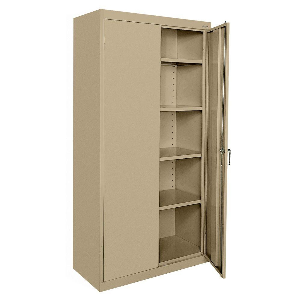 Sandusky Classic Series 72 In H X 36 Inw X 18 In D Steel Intended For Free Standing Storage Cupboards (Image 12 of 15)