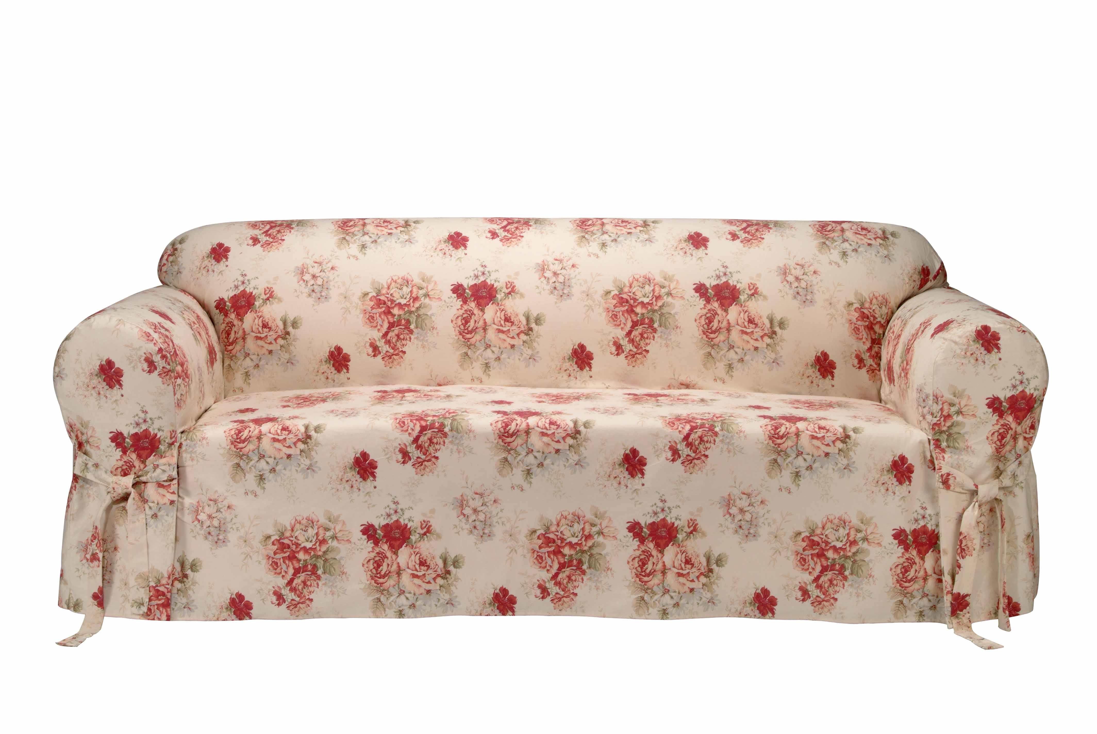 Saras Rose Printed Sofa Slipcover Free Shipping Today Inside Chintz Covered Sofas (Image 14 of 15)