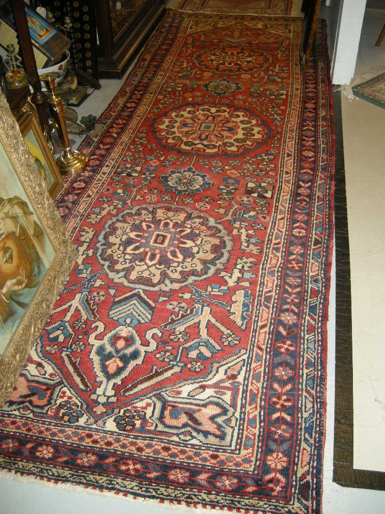 Serape Style Old Heriz Persian Oriental Rug Runner Carpet Inside Persian Carpet Runners (View 6 of 15)