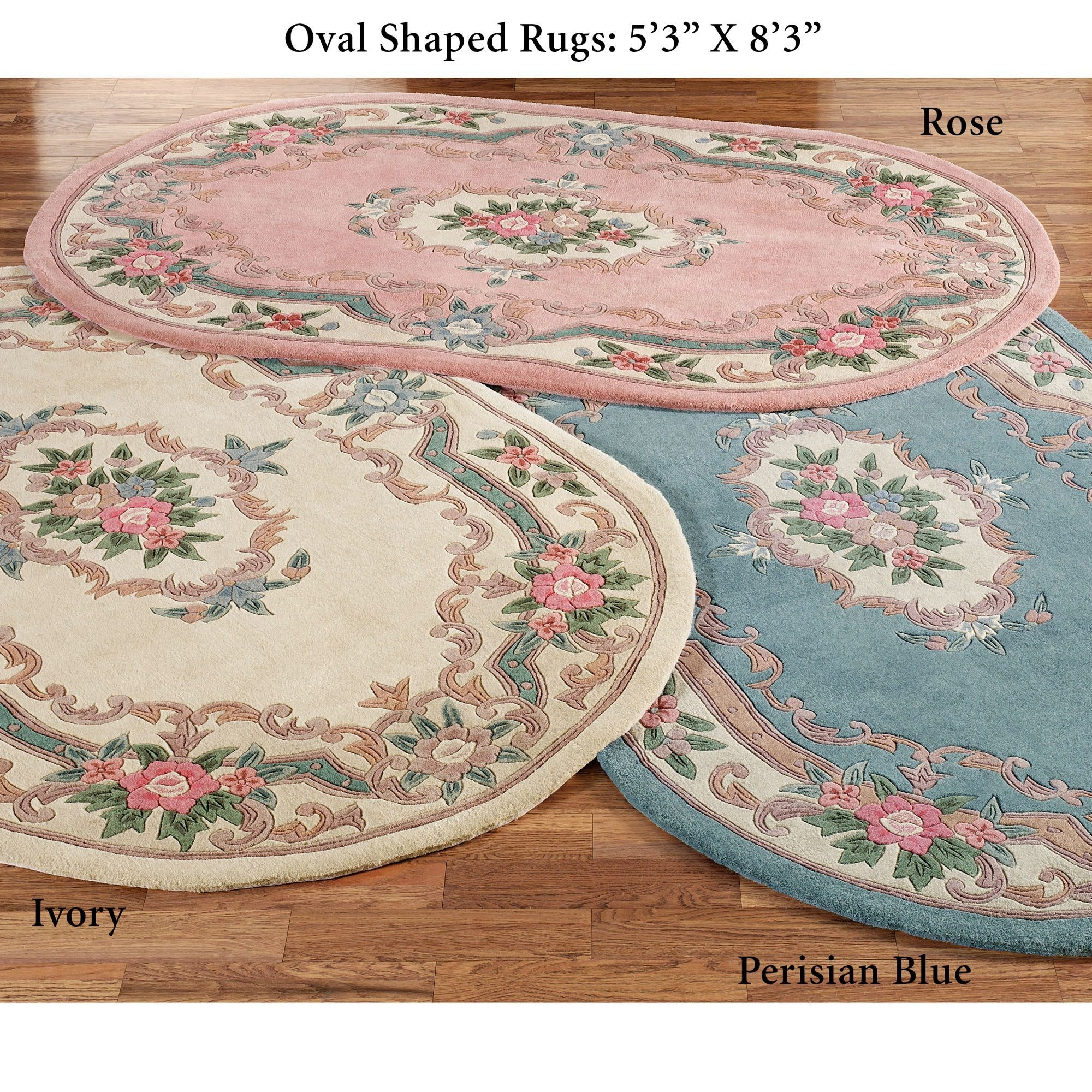 Serena Aubusson Oval Rugs Pertaining To Oval Rugs (Image 10 of 15)