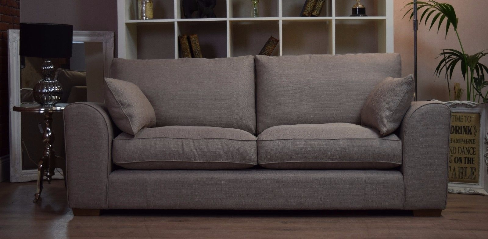 Set New Ashdown 3 Seater Sofa Cuddle Chair Set Beige Mink Within 3 Seater Sofa And Cuddle Chairs (Image 12 of 15)