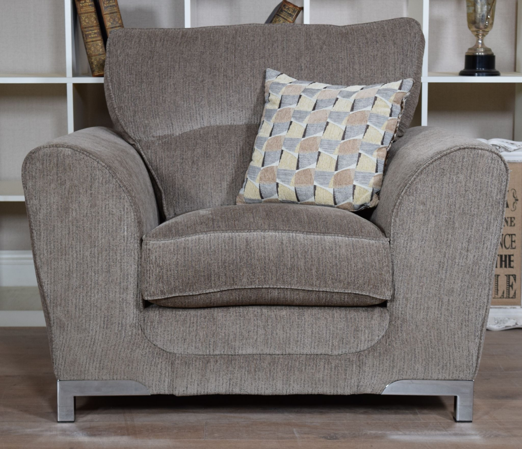 Set Nikki 3 Seater Sofa Cuddle Chair Suite Set Mocha Grey With 3 Seater Sofa And Cuddle Chairs (Image 13 of 15)