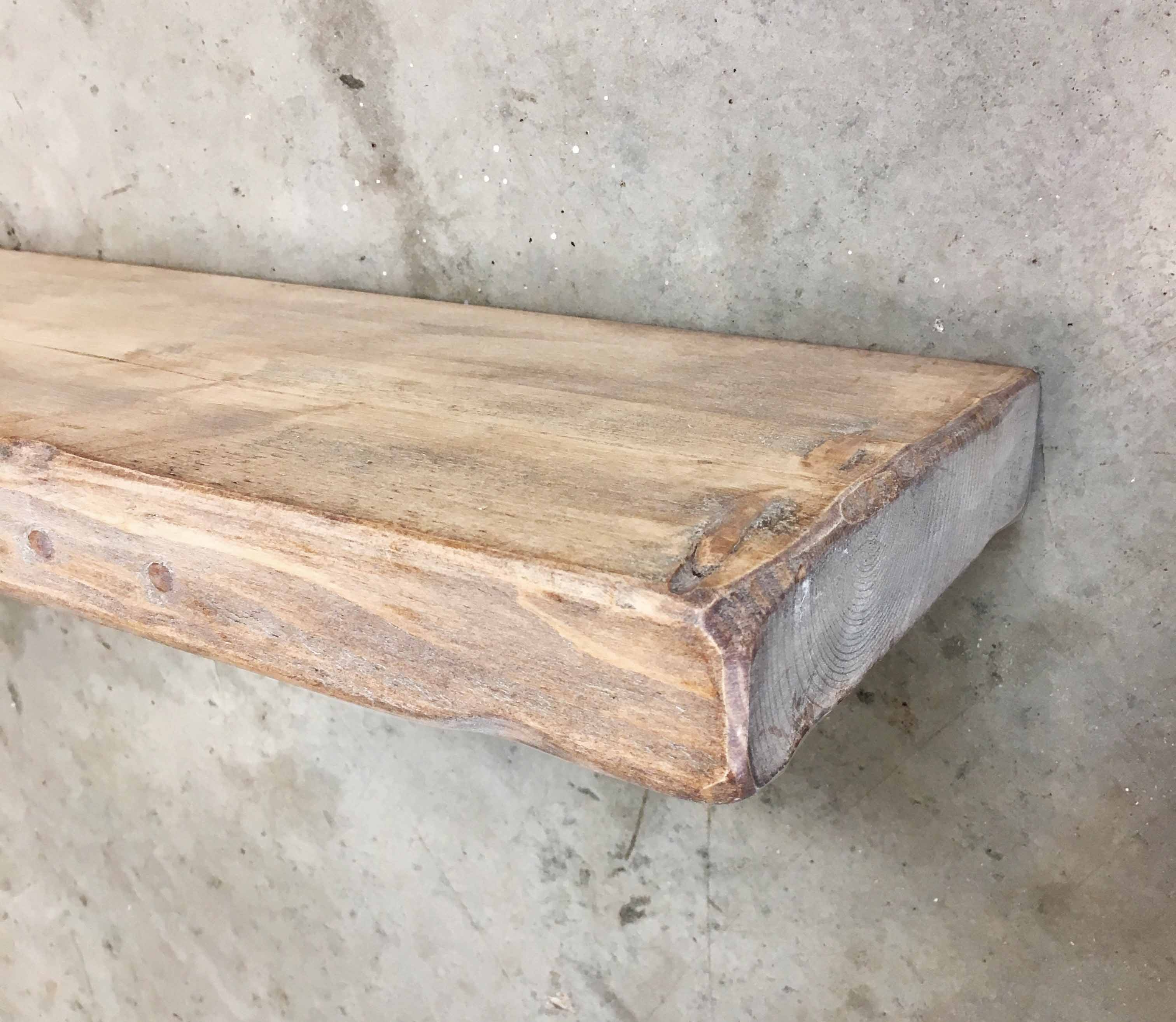 Shab Chic Rustic Chunky Floating Shelf 22cm X 5cm Ben Simpson Inside 50cm Floating Shelf (View 14 of 15)