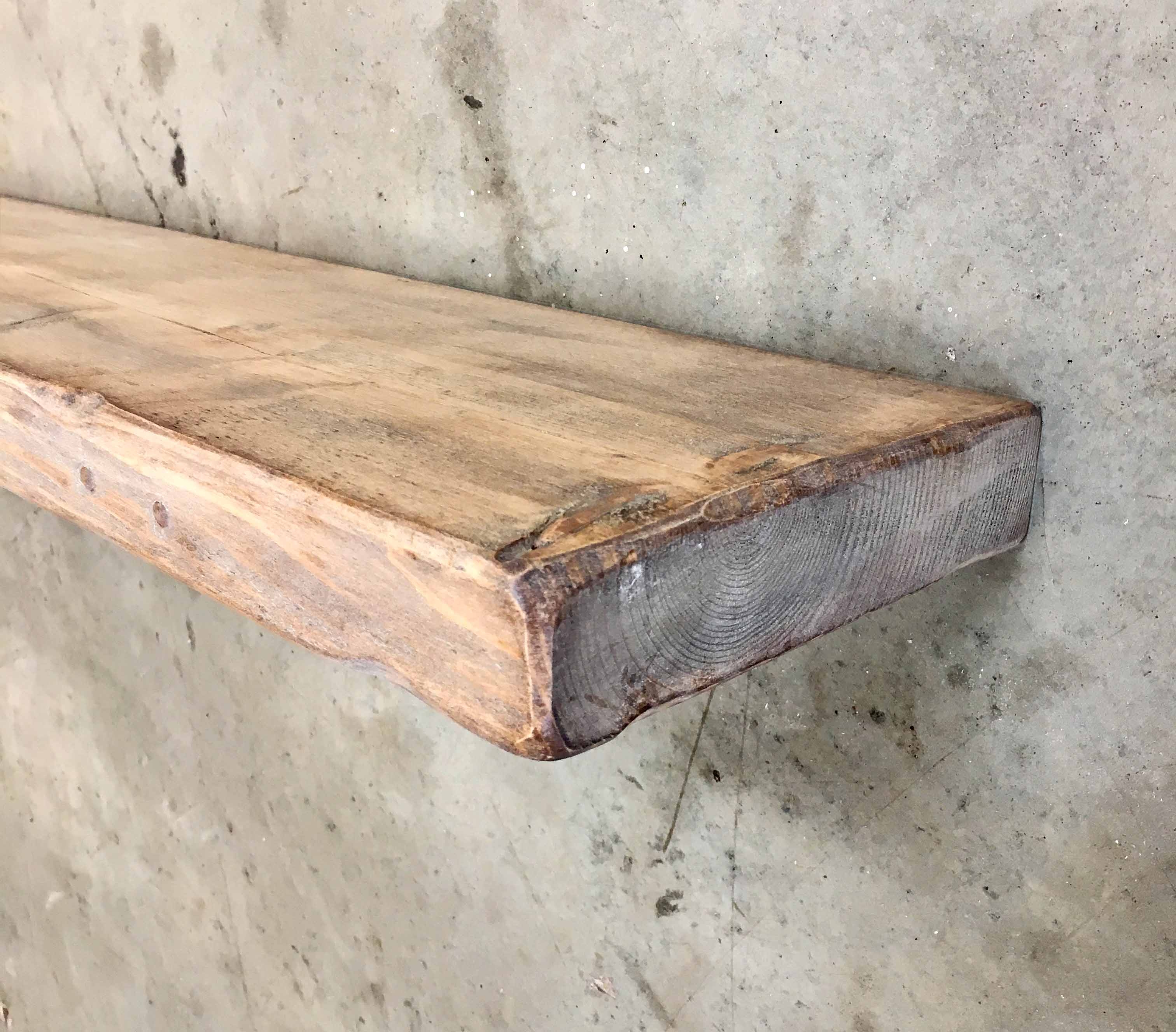 Shab Chic Rustic Chunky Floating Shelf 22cm X 5cm Ben Simpson With Regard To 50cm Floating Shelf (View 15 of 15)