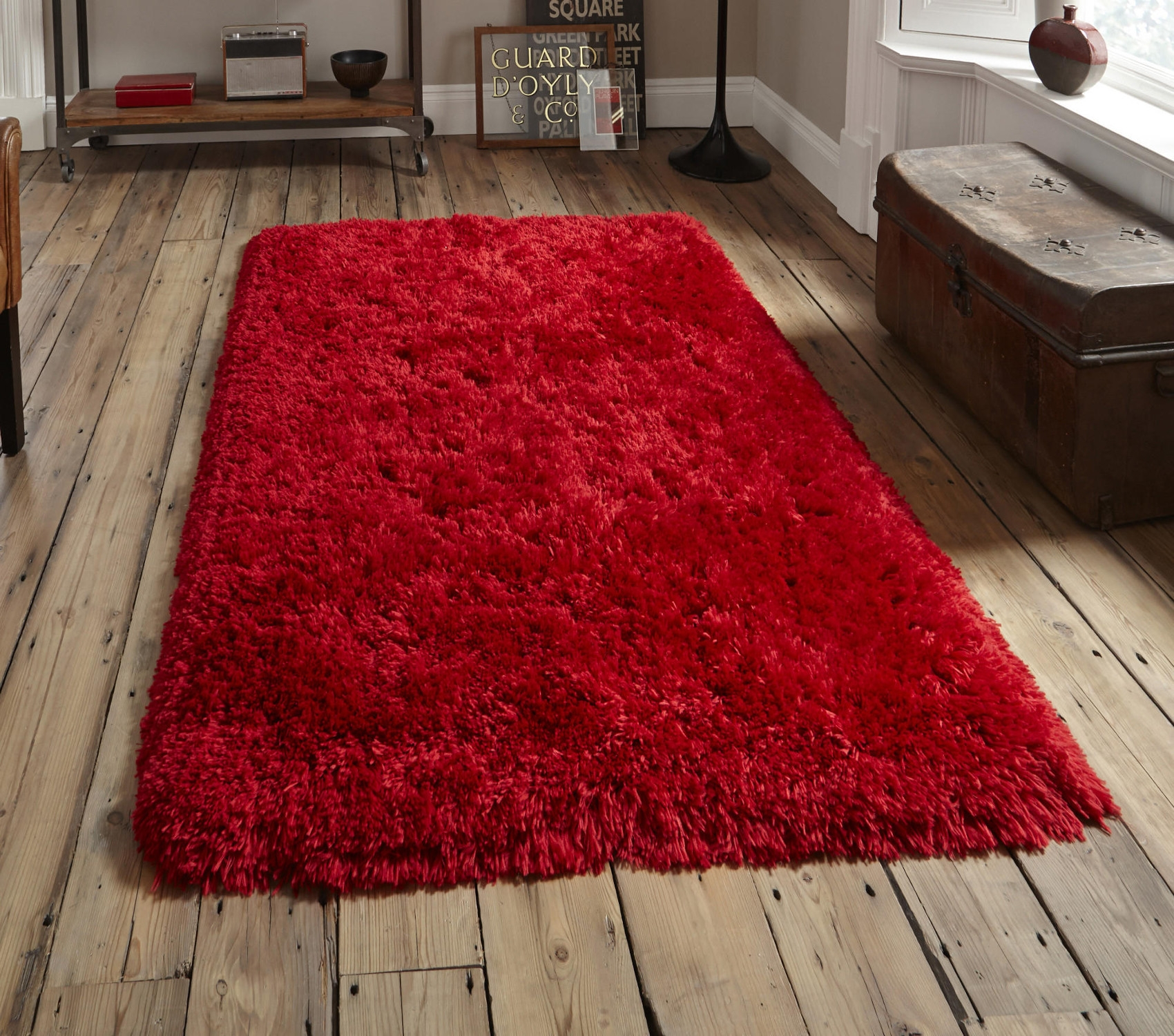 Shaggy Red Rugs Home Decors Collection Intended For Large Red Rugs (View 4 of 15)