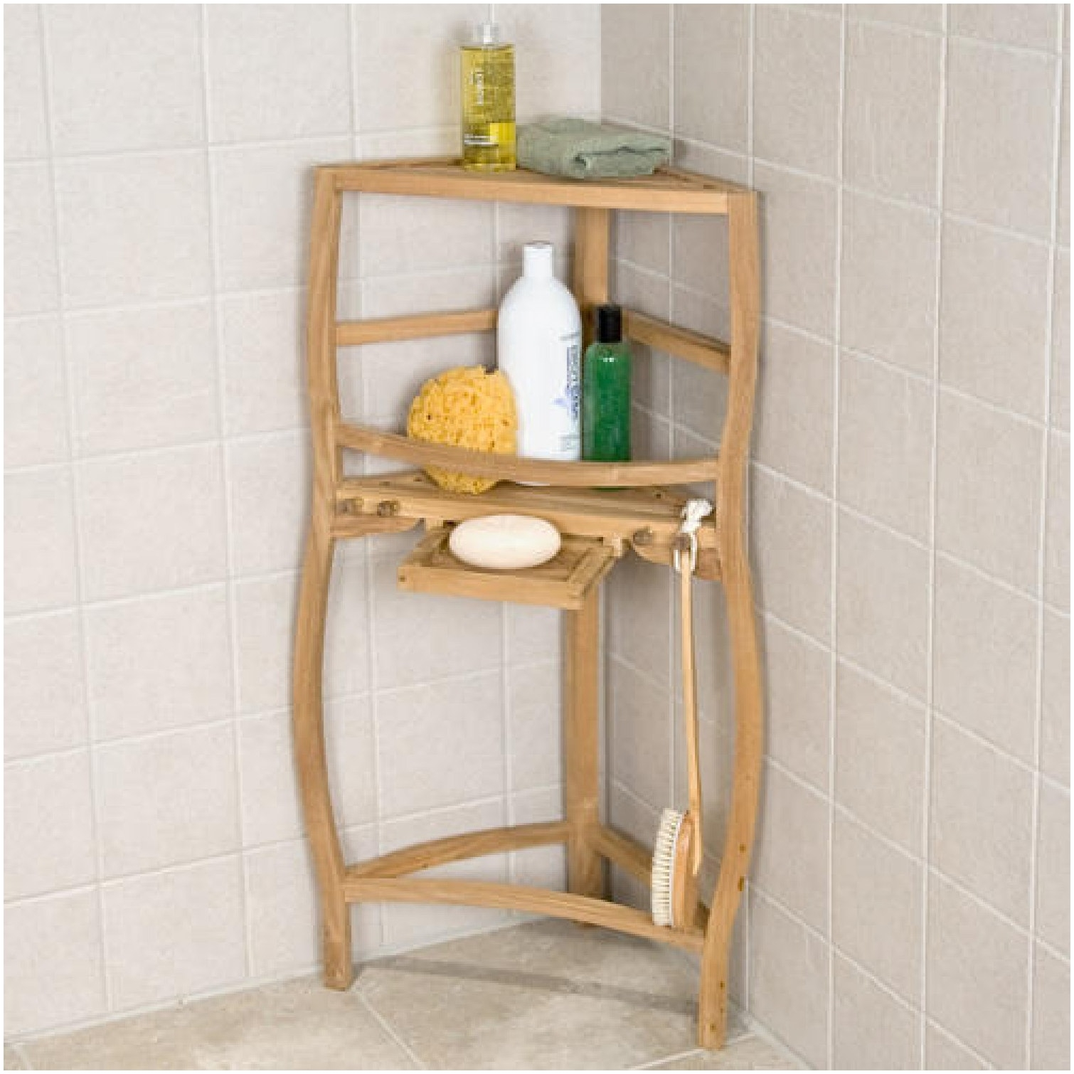 Shelf Design Enchanting Glass Shower Shelf Corner Home Storage In Free Standing Glass Shelves (Image 13 of 15)