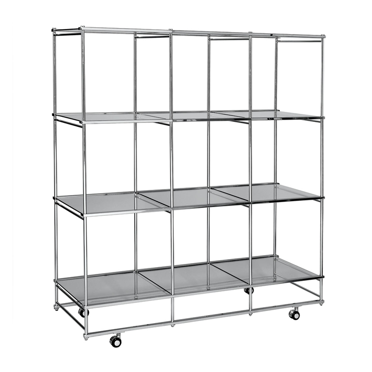 Shelf Tower Unit With 4 Adjustable Glass Shelves Med 477 L X 477 D With Glass Shelf Fittings (View 12 of 15)