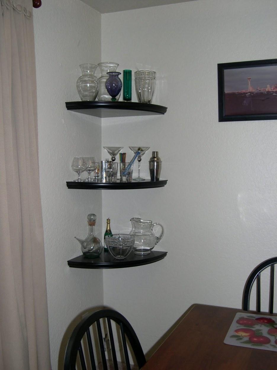Shelving Ideas Glass Corner Shelves Corner Glass Shelves For In Floating Corner Glass Shelves (Image 13 of 15)