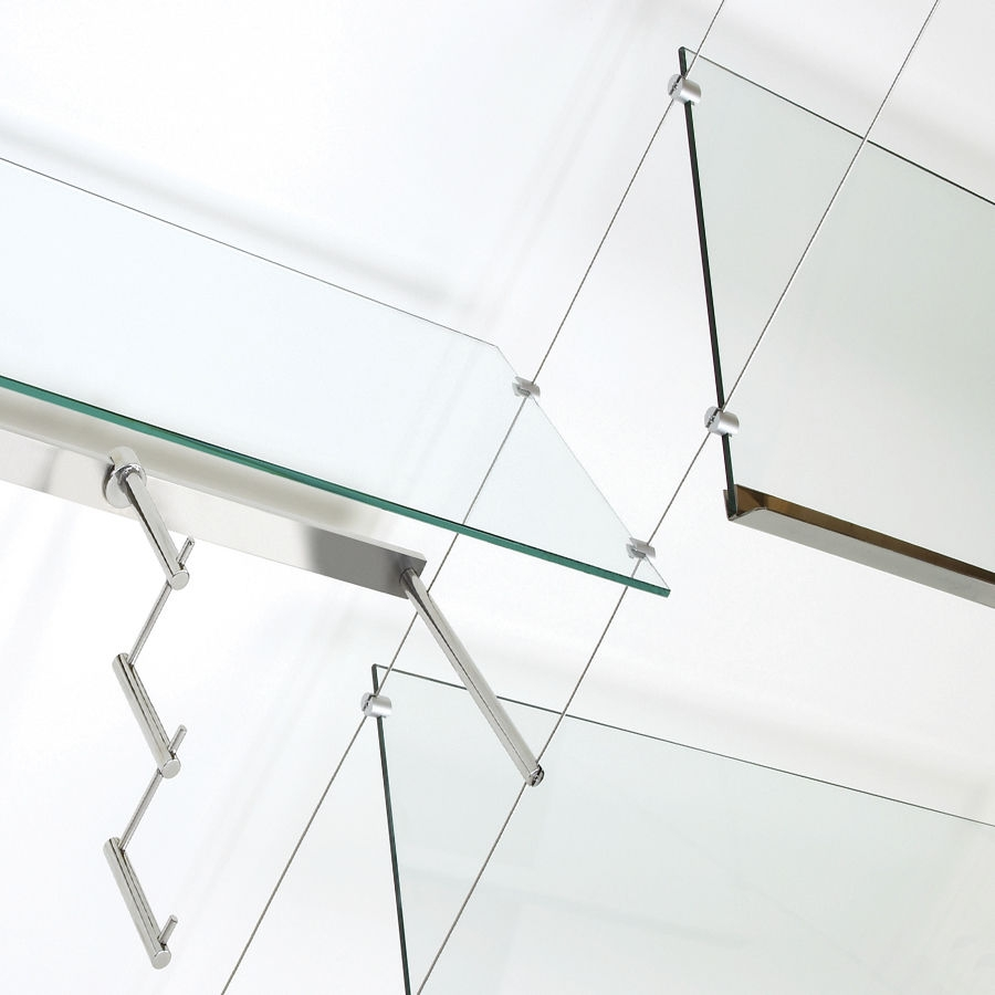 Shelving System Hanging Contemporary Glass For Shops Shopkit For Suspended Glass Shelving (Image 9 of 15)