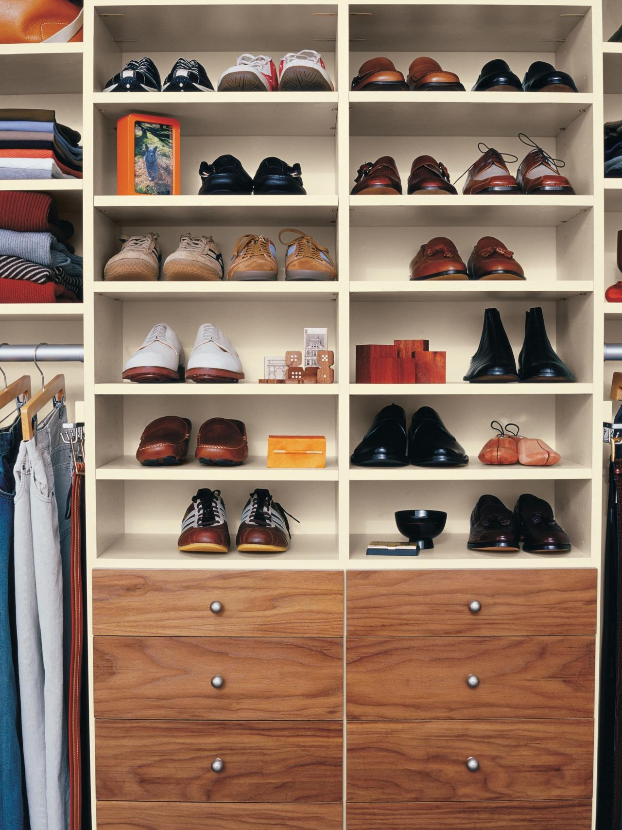 Shoe Storage And Organization Ideas Pictures Tips Options Hgtv Regarding Wardrobe Shoe Storages (Image 22 of 25)