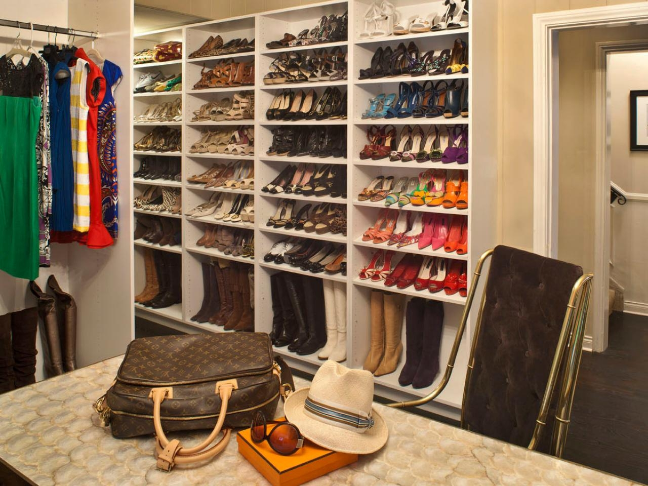 Shoe Storage And Organization Ideas Pictures Tips Options Hgtv Throughout Wardrobe Shoe Storages (Image 23 of 25)