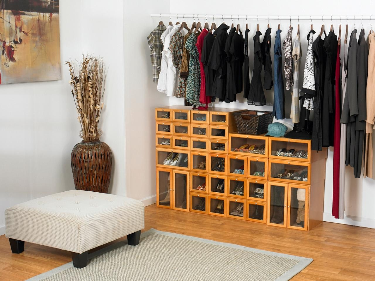 Shoe Storage And Organization Ideas Pictures Tips Options Hgtv With Wardrobe Shoe Storages (Image 24 of 25)
