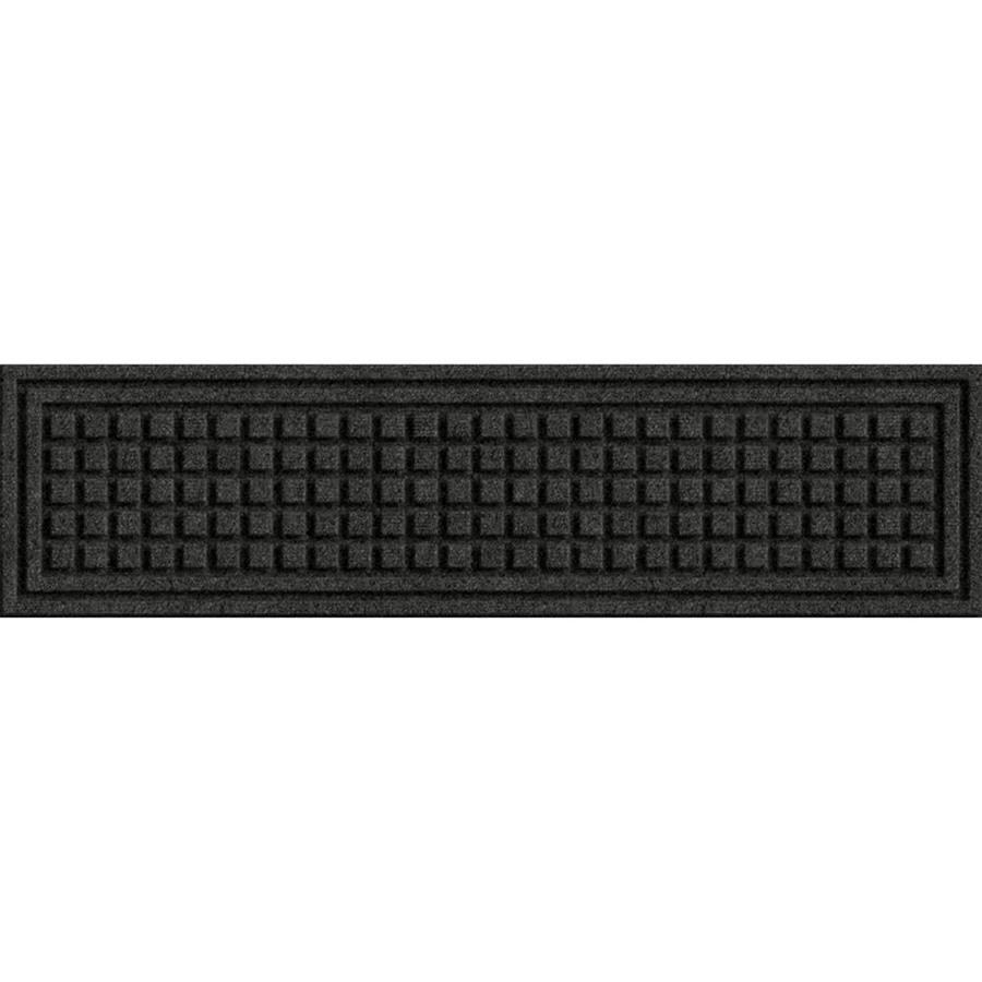 Shop Blue Hawk Black Rectangular Stair Tread Mat Common Actual Throughout Rectangular Stair Treads (Image 9 of 15)