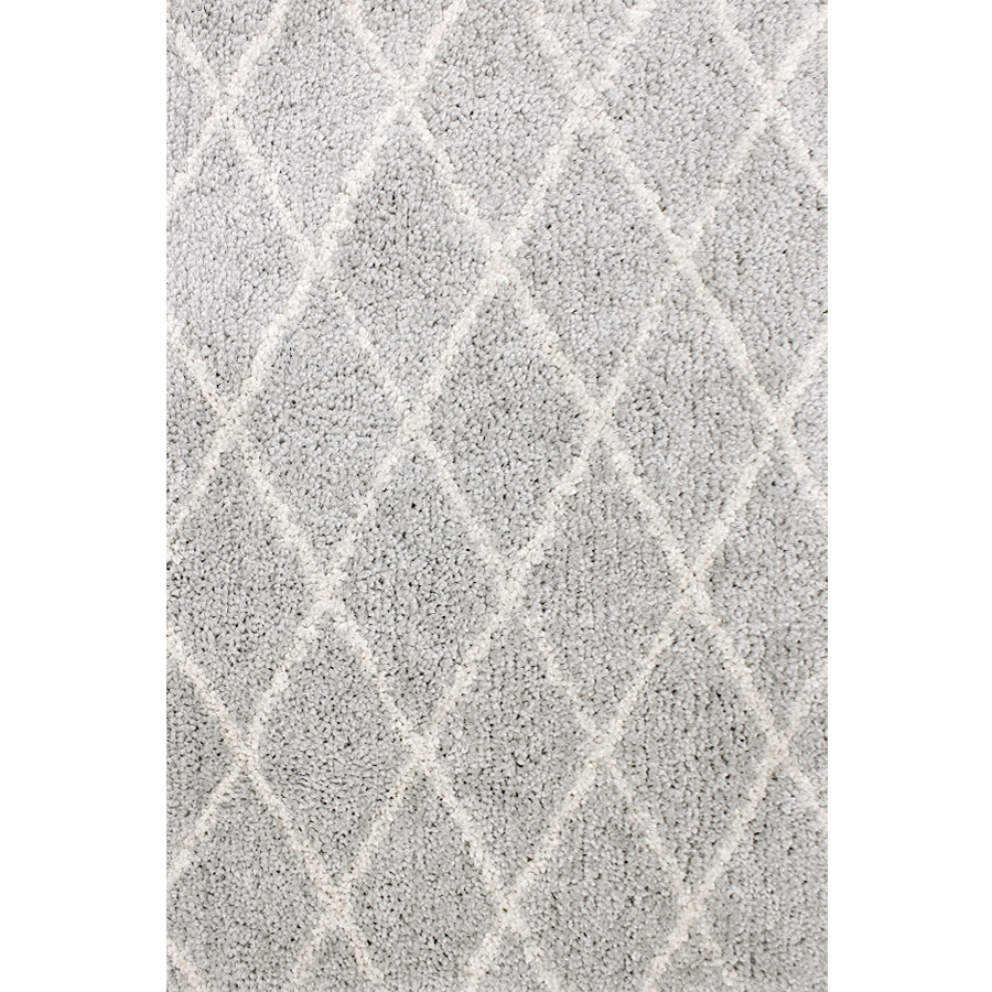 Shop Carpet Art Deco Veneto Light Grey White Rectangular Indoor Within Light Grey And White Rugs (Image 8 of 15)
