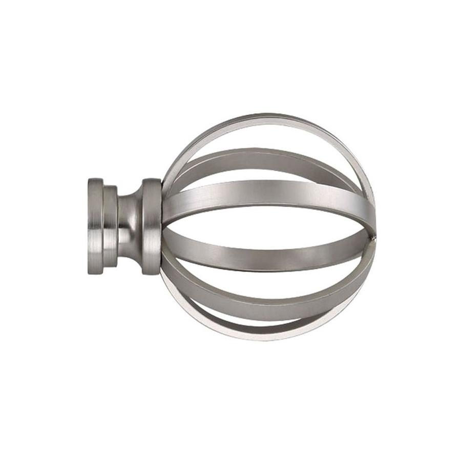 Shop Curtain Rod Finials At Lowes Pertaining To Metal Curtain Rod Finials (View 20 of 25)
