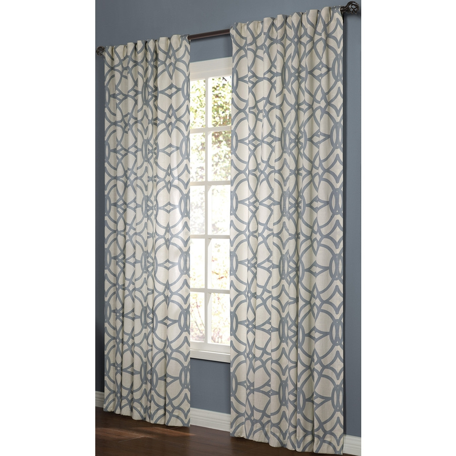 Shop Curtains Drapes At Lowes With Regard To Pattern Curtain Panels (Image 20 of 25)