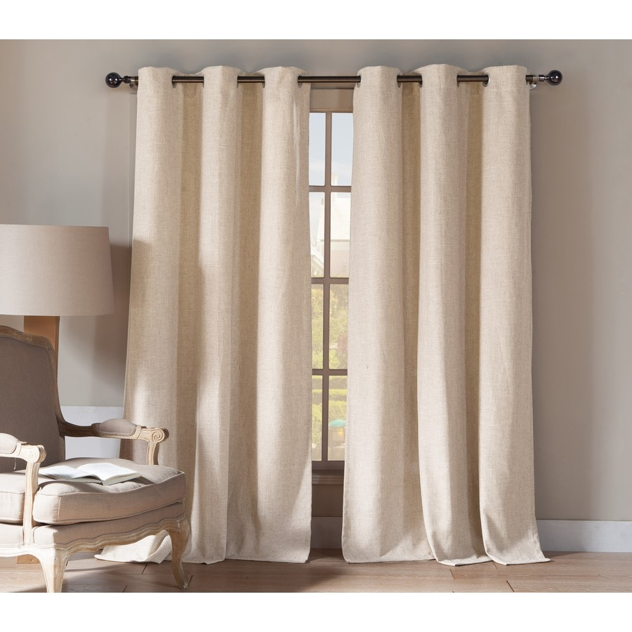 Shop Duck River Textile 84 In Linen Polyester Grommet Light Pertaining To Linen Grommet Curtains (Image 22 of 25)