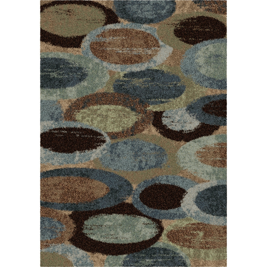 Shop Orian Rugs Bubbly Blue Blue Rectangular Indoor Machine Made In Novelty Rugs (Image 11 of 15)