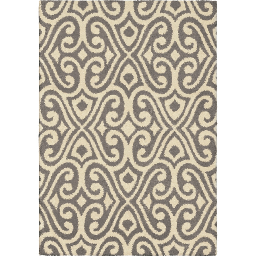 Shop Orian Rugs Eutaw Taupe Rectangular Indoor Machine Made Regarding Novelty Rugs (Image 12 of 15)