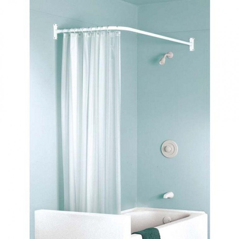 Shower Curtain Rod L Shaped Curtain Menzilperde Inside L Shaped Shower Curtain Rods (Image 23 of 25)