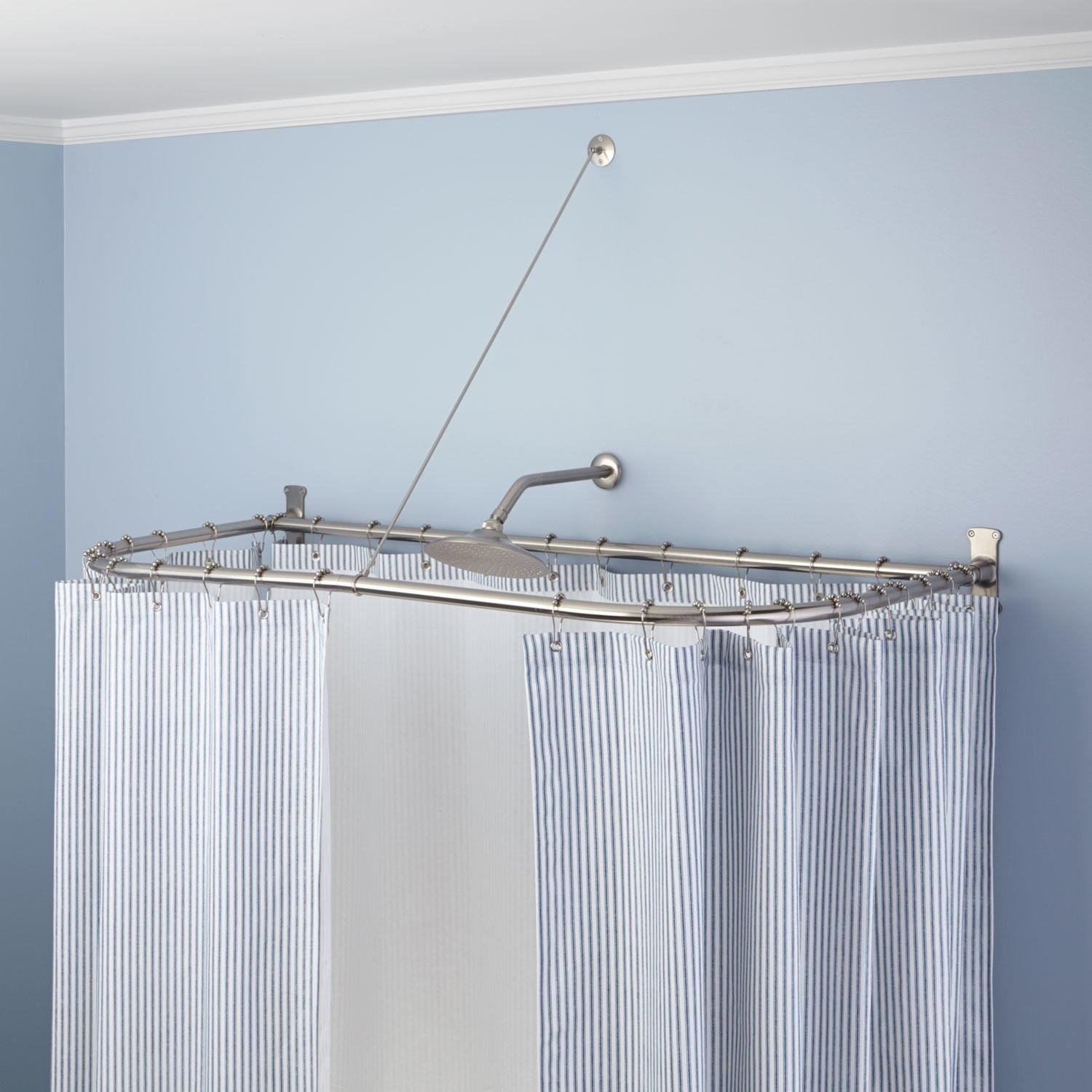 Shower Curtain Rods For Clawfoot Tubs Pertaining To Shower Curtains For Clawfoot Tubs (Image 22 of 25)