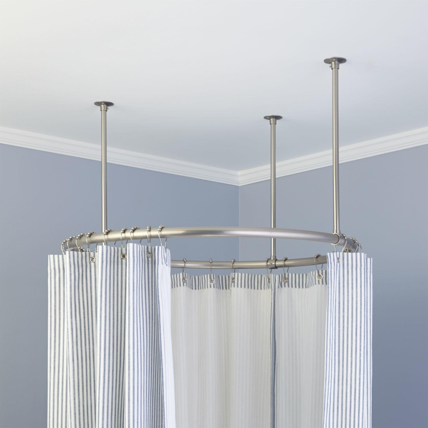 Shower Curtain Rods Signature Hardware Within L Shaped Shower Curtain Rods (Image 24 of 25)